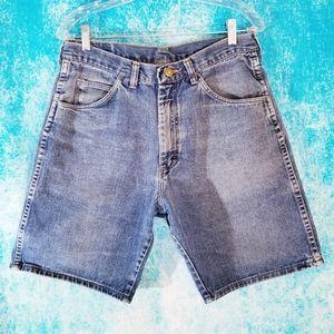 VTG Wrangler High Waist Blue Denim Shorts